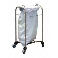 Laundry Trolley With Lid - Single