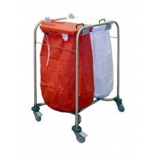 Laundry Trolley With Lid - Double