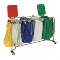 Laundry Trolley With Lid - Quad
