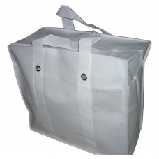 "Non-Woven Polyprop Carry Bag / Storage Bag - 21"" x 19"" x 9.5"" - White"
