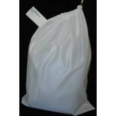Linen Bag With Drawstring and Toggle: White