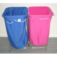 Carry Sack Trolley Stainless Steel - Double (without bags)