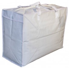 "Large Woven Carry Bag / Storage Bag - 24"" x 18"" x 11"" - White (no longer available)"