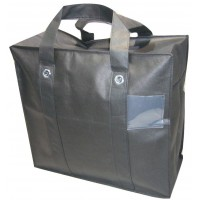"Non-Woven Polyprop Carry Bag / Storage Bag - 21"" x 19"" x 9.5"" - Black (low stock)"