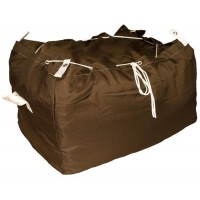 Commercial Laundry Hamper With Drawstring Closure CD407 Dark Brown