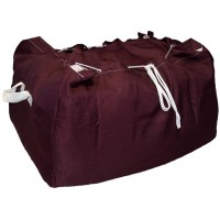 Commercial Laundry Hamper With Drawstring Closure CD430 Dark Red