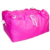 Commercial Laundry Hamper With Drawstring Closure CD424 Pink