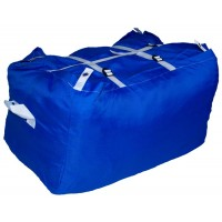 Commercial Laundry Hamper With Three Strap Closure CD501 Royal Blue