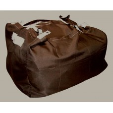 Commercial Laundry Hamper With Three Strap Closure CD507 Dark Brown