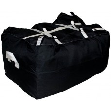Commercial Laundry Hamper With Three Strap Closure CD521 Black