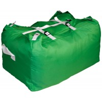 Commercial Laundry Hamper With Three Strap Closure CD504 Green