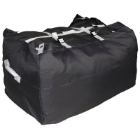 Commercial Laundry Hamper With Three Strap Closure CD518 Dark Grey