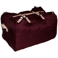 Commercial Laundry Hamper With Three Strap Closure CD530 Dark Red