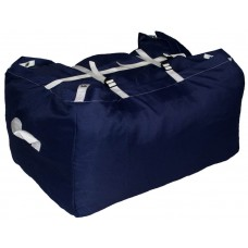 Commercial Laundry Hamper With Three Strap Closure CD525 Navy Blue