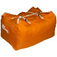 Commercial Laundry Hamper With Three Strap Closure CD506 Orange