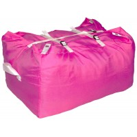 Commercial Laundry Hamper With Three Strap Closure CD524 Pink