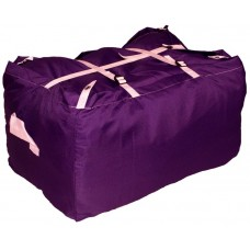 Commercial Laundry Hamper With Three Strap Closure CD513 Purple