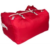 Commercial Laundry Hamper With Three Strap Closure CD505 Red