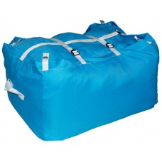 Commercial Laundry Hamper With Three Strap Closure CD522 Turquoise