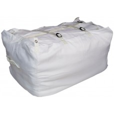Commercial Laundry Hamper With Three Strap Closure CD503 White