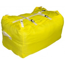 Commercial Laundry Hamper With Three Strap Closure CD502 Yellow