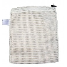 "Drawstring Net Bag: Small 9"" x 14"" With Toggle (White)"