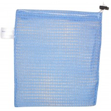 "Drawstring Net Bag: Small 9"" x 14"" With Toggle (Sky Blue)"