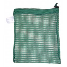 "Drawstring Net Bag: Small 9"" x 14"" With Toggle (Forest Green)"