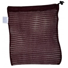"Drawstring Net Bag: Small 9"" x 14"" With Toggle (Maroon)"