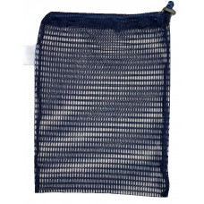 "Drawstring Net Bag: Small 9"" x 14"" With Toggle (Navy Blue)"