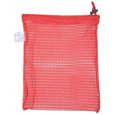 "Drawstring Net Bag: Small 9"" x 14"" With Toggle (Bright Red)"