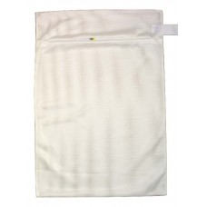 "Zipped Heavy Duty Mesh Bag: Extra Large 24"" x 34"" - White"
