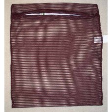 "Zipped Net Bag Colours: Large 23"" x 28"" Dark Red / Burgundy"