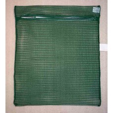 "Zipped Net Bag Colours: Large 23"" x 28"" Dark Green"