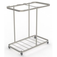 Double Carry Sack Trolley Stainless Steel Bag Holder (without bags)
