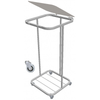 Lidded Carry Sack Trolley Stainless Steel with retaining wires and LID (without bag)