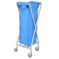 Folding Laundry Trolley 100L (with blue bag)