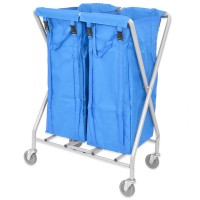 Folding Laundry Trolley  100L Twin (with 2 bags)