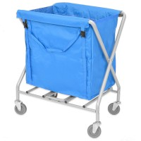 Folding Laundry Trolley 150L (with blue bag)