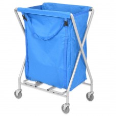 Folding Laundry Trolley 200L (with blue bag)