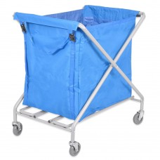 Folding Laundry Trolley 300L (with blue bag)
