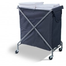 Folding Laundry Trolley 230L (with blue bag)